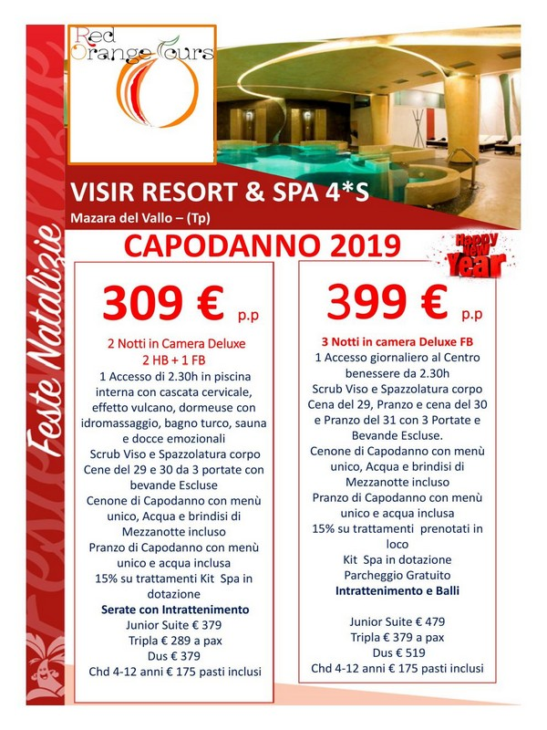 CAPODANNO 2019 VISIR RESORT & SPA