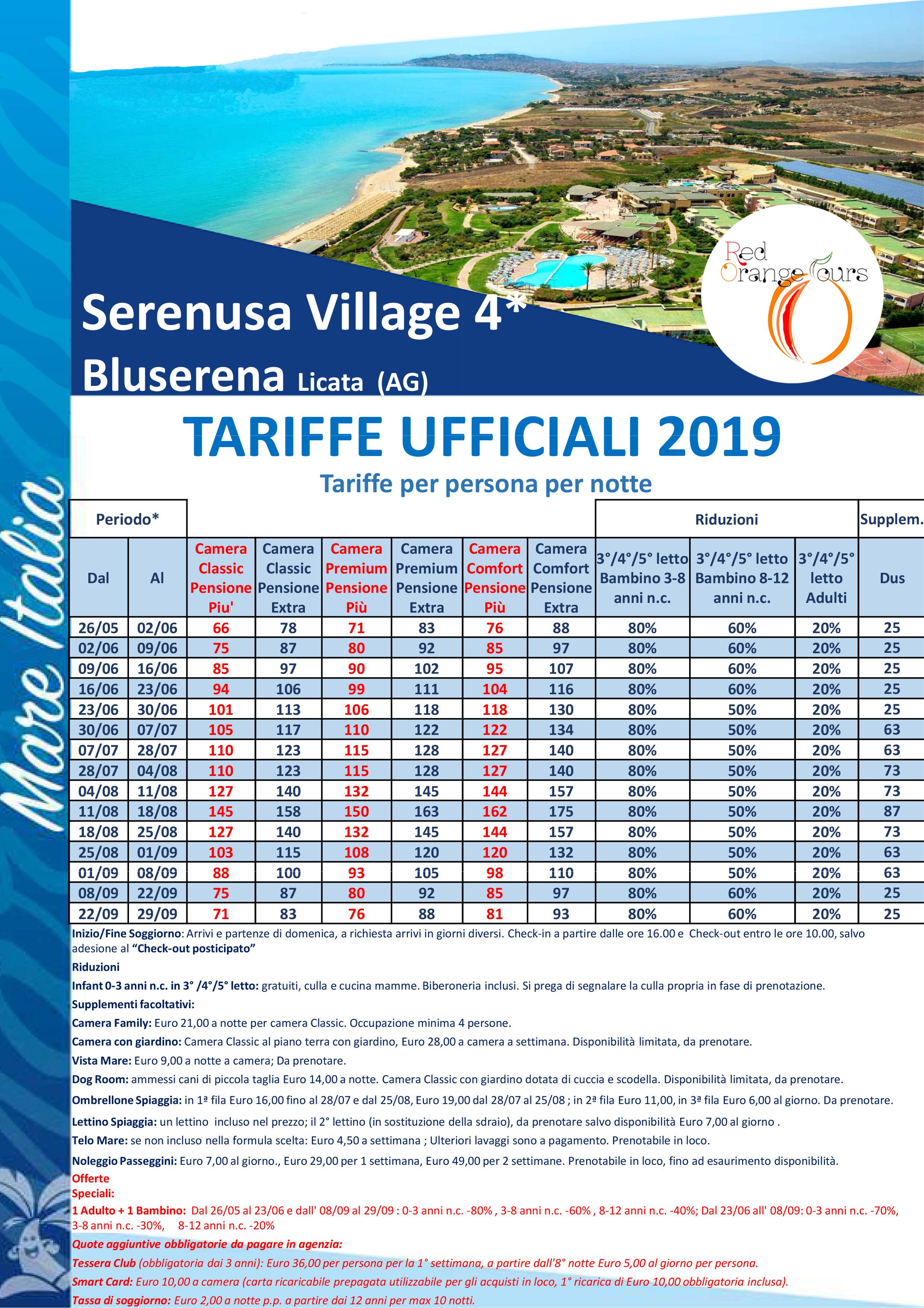 serenusa village azzurra
