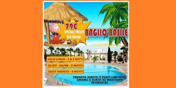 BAGLIO BASILE SPECIALE PREZZI RED ORANGE