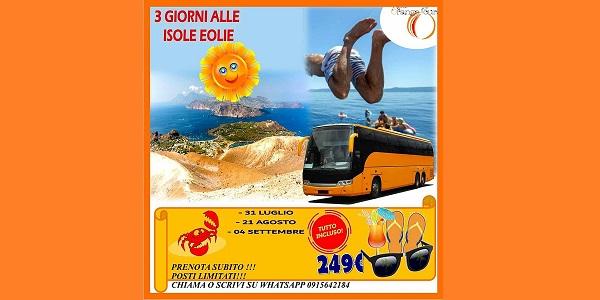 SPECIALE TOUR ISOLE EOLIE – Lipari/Vulcano/Panarea/Stromboli